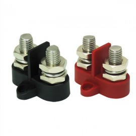 High-voltage current terminal studs